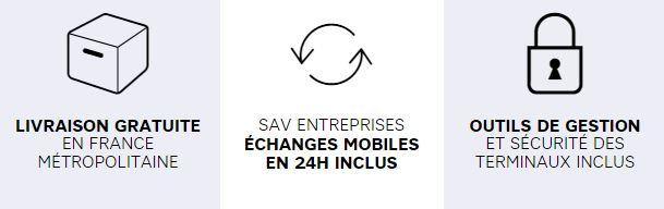 Livraison gratuite, service après vente entreprise, outils de gestion - Axydis Distributeur SFR Business